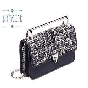 Botkier Lennox Tweed Leather Small Crossbody Bag